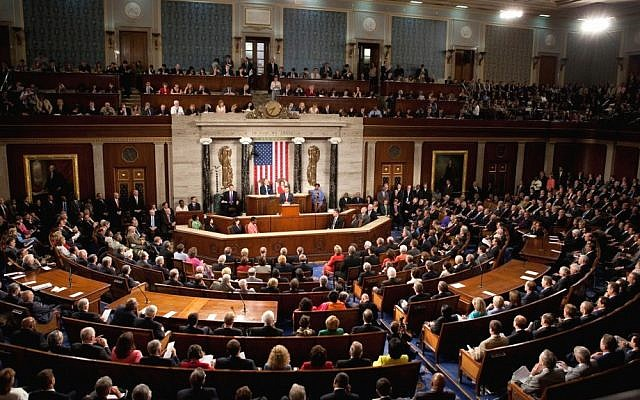 An illustrative image of a joint session of US Congress in May 2012 (photo credit: Lawrence Jackson/White House)