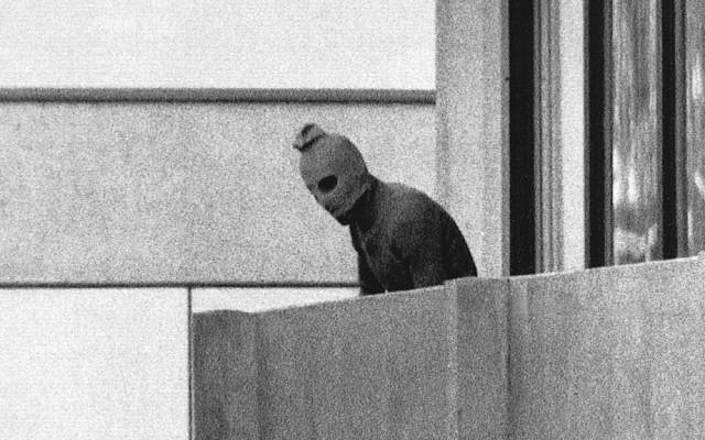 A member of the Palestinian terrorist group Black September, which killed 11 members of the Israeli Olympic team, during the 1972 Munich Olympics. (AP/Kurt Strumpf)