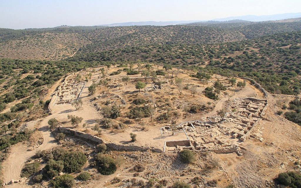 The excavation at Hirbet Qeiyafa is currently one of the most important in the world of Biblical archaeology  (Courtesy of Hebrew University of Jerusalem)