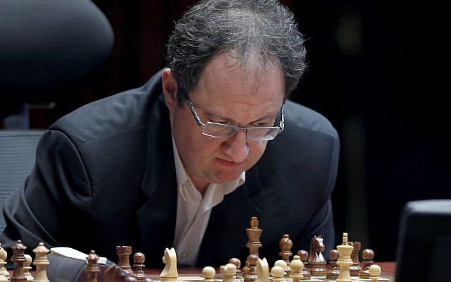 Boris Gelfand during a World Chess Championship tie break match. (illustrative photo credit: AP/Misha Japaridze)