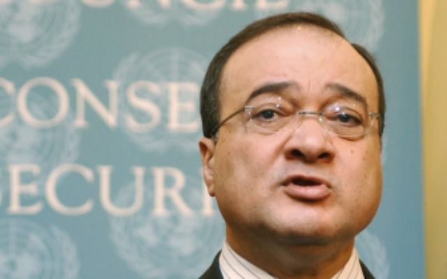 Deputy UN-Arab League envoy to Syria, Nasser al-Kidwa (photo credit: AP)