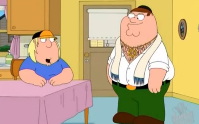 Image capture from a 'Family Guy' clip on YouTube.