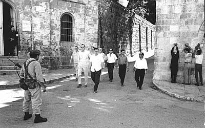 Axel Springer in the Via Dolorosa, June 1967. (photo credit: Courtesy)