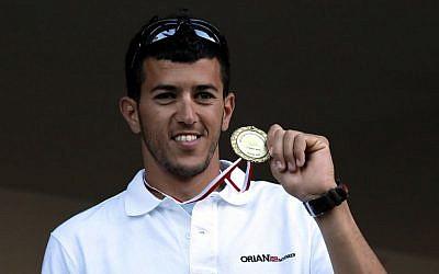 Zubari with the gold medal at the 2010 European Championships (photo credit: CC-BY-SA Agnieszka Walulik/Wikipedia)
