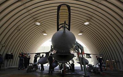 Illustrative photo of an F-16 jet (photo credit: Nati Shohat /Flash90)