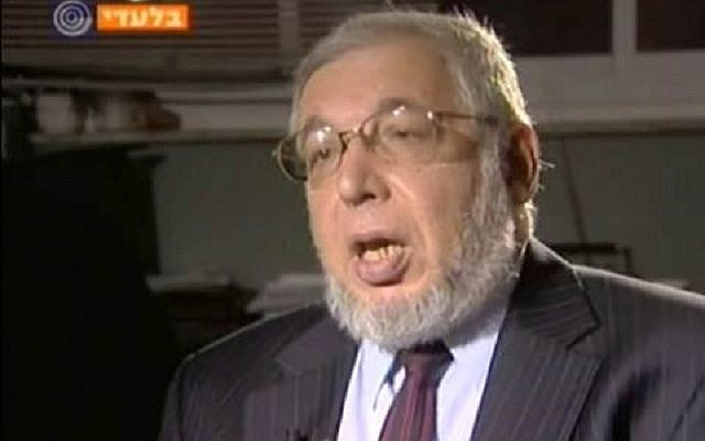 Ze'ev Ben Aryeh (screen grab from Channel 1)