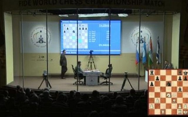 Boris Gelfand faces Viswanathan Anand in Moscow on Saturday. (photo credit: screen capture, http://moscow2012.fide.com)
