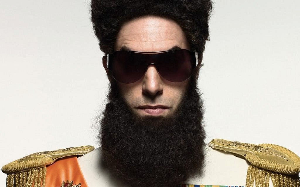 "Sacha Baron Cohen as Middle Eastern tyrant General Aladeen (Courtesy ""The Dictator"")"