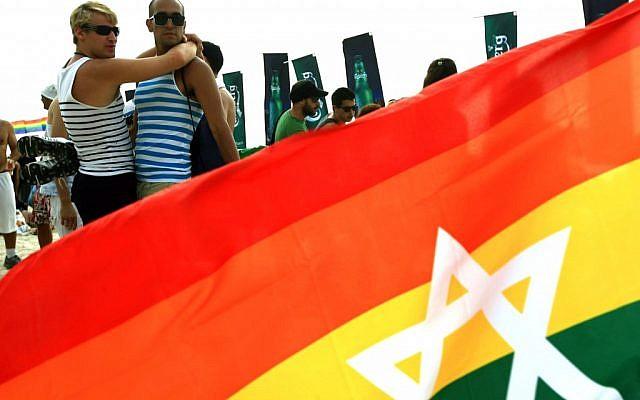 The pride parade in Tel Aviv, June 2010. (photo credit: Omer Messinger/Flash90)