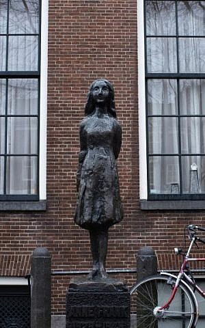 View of the Anne Frank house in Amsterdam, Holland, where Anne and her family hid during the Holocaust. (photo credit: Nati Shohat/Flash90)
