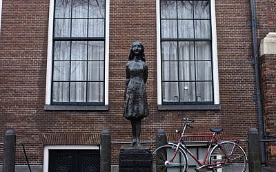 View of the house in Amsterdam where Anne Frank and her family hid during the Holocaust. (photo credit: Nati Shohat/Flash90)