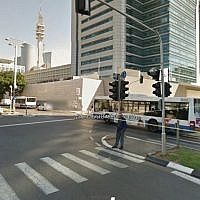 A Google Street View outside IDF headquarters in Tel Aviv. (screen capture)