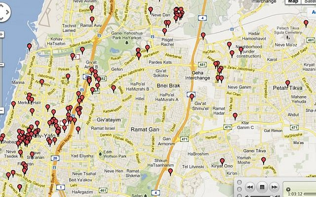 The Israel Start-up Map (Photo credit: courtesy)