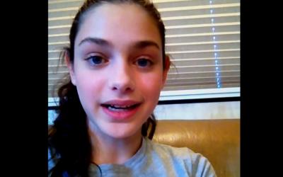 Israeli actress Odeya Rush (screen grab from YouTube)