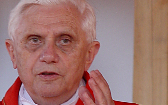 Pope Benedict XVI. (photo credit: Janusz Stachoń, CC-BY, www.szczepanow.pl)
