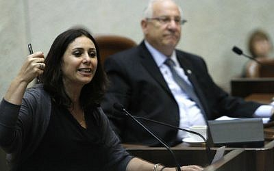 Likud MK Miri Regev in the Knesset (photo credit: Miriam Alster/Flash90)