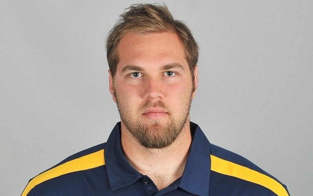 Mitchell Schwartz, a 22-year-old right tackle from the University of California Berkeley, was drafted by the Cleveland Browns. (photo credit: University of California, Berkeley/JTA)
