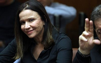 Labor party head Shelly Yachimovich in the Knesset in 2011 (photo credit: Abir Sultan/Flash 90)