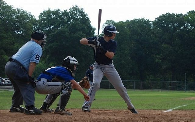 Ungar at bat (photo credit: Max Ungar)