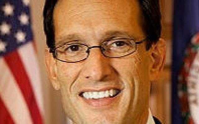 Majority Leader Eric Cantor will remain the only Jewish Republican in the US House of Representatives. (Wikimedia Commons)
