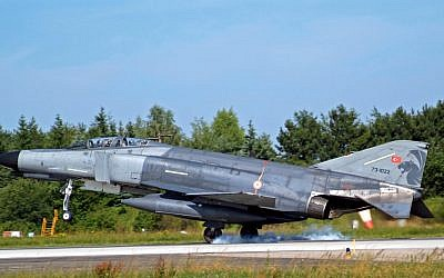 Illustrative photo of a Turkish F-4 fighter jet (CC BY-Jerry Gunner, Flickr)