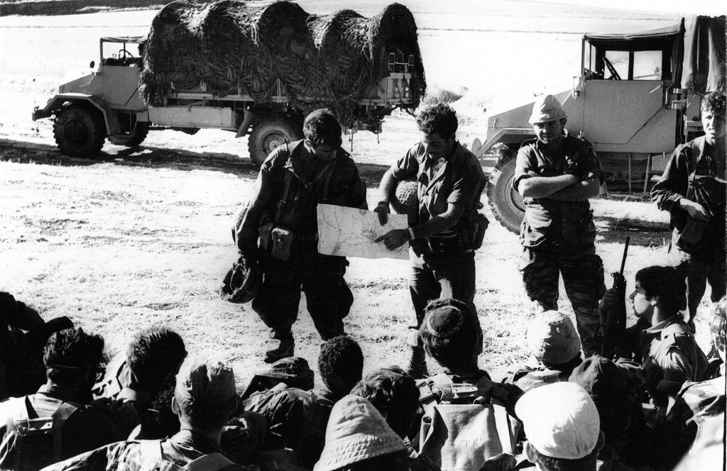 The Sol Rs Of B Company 71st Battalion Being Briefed On The Eve Of The Six