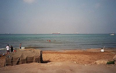 A view of the Mediterranean Sea from Tartus, Syria (photo credit: CC BY upyernoz/Flickr)