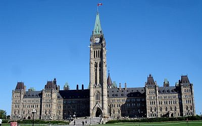 The Canadian Centre Block parliament building. (photo credit: CC-BY-SA Daryl_Mitchell, Flickr)