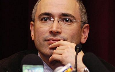 Mikhail Khodorkovsky (photo credit: CC-BY-PressCenter of Mikhail Khodorkovsky and Platon Lebedev, Wikimedia Commons)