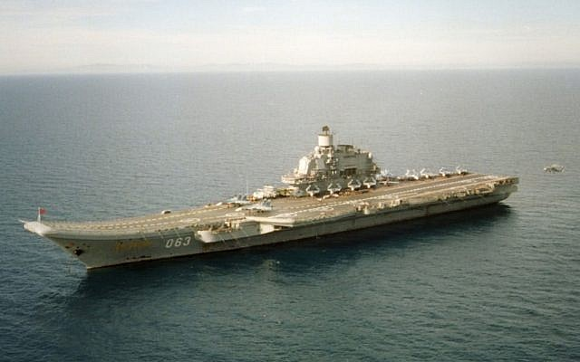 Russian Aircraft Carrier Adm. Kuznetsov (photo courtesy US Department of Defense)