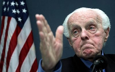 Holocaust survivor and former US Congressman Tom Lantos in 2005. (photo credit: AP Photos/Ng Han Guan)
