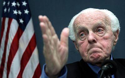Holocaust survivor and former US Congressman Tom Lantos in 2005. (photo credit: AP Photos/Ng Han Guan)