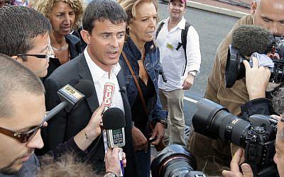 French Interior Minister Manuel Valls (photo credit: AP/Bob Edme)