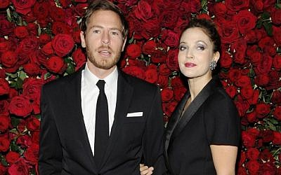 Drew Barrymore and Will Kopelman in New York last November. (photo credit: AP/Evan Agostini, file)