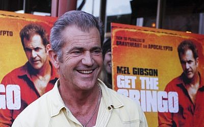 Mel Gibson at the premiere screening of his new film in Austin, Texas, April 18, 2012. (photo credit: Jack Plunkett/AP)