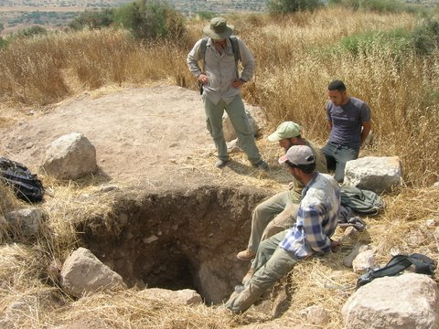 Three men were arrested June 12 as they attempted to loot an ancient site near the city of Beit Shemesh (Courtesy of the Israel Antiquities Authority)