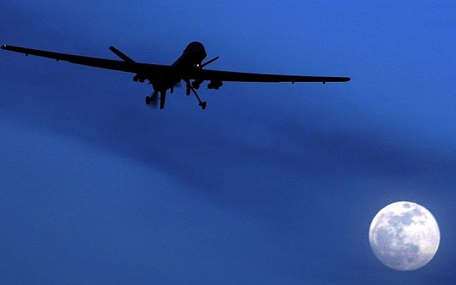 An American predator drone (photo credit: AP/Kirsty Wigglesworth)