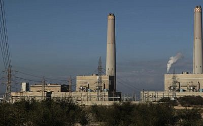 The Eshkol power station in Ashdod (Photo credit: Tsafrir Abayov/Flash90)
