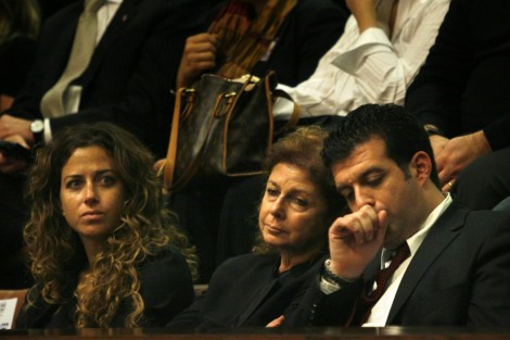 Noa Rothman (left) attends a 2007 Knesset memorial for Yitzhak Rabin with her mother, Dalia Rabin, and her uncle Yuval Rabin (photo credit: Michal Fattal/Flash90)
