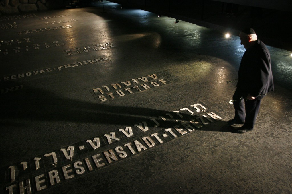 A Holocaust survivor at the Yad Vashem Holocaust Museum in Jerusalem. (photo credit: Michal Fattal/Flash90)