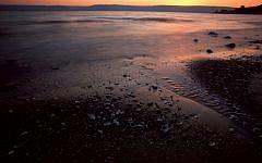 Sunset on the the Sea of Galilee (Doron Horowitz/Flash 90)