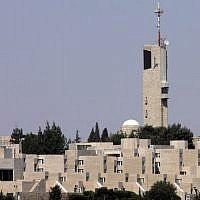 Mount Scopus campus of The Hebrew University in Jerusalem (Nati Shohat/Flash90)