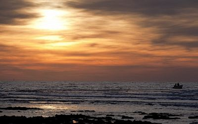 A Caesarea sunset (photo credit: David Vaaknin/Flash90)