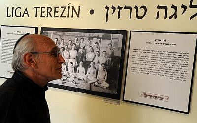 """Liga Terezin"" portrait at Beit Theresienstadt. (photo credit: Gili Yaari/Flash90)"