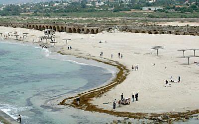 Aqueduct Beach (photo credit: Moshe Shai/Flash 90)