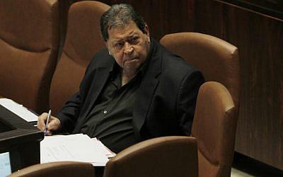 Labor MK Binyamin Ben-Eliezer. (photo credit: Miriam Alster/Flash90)