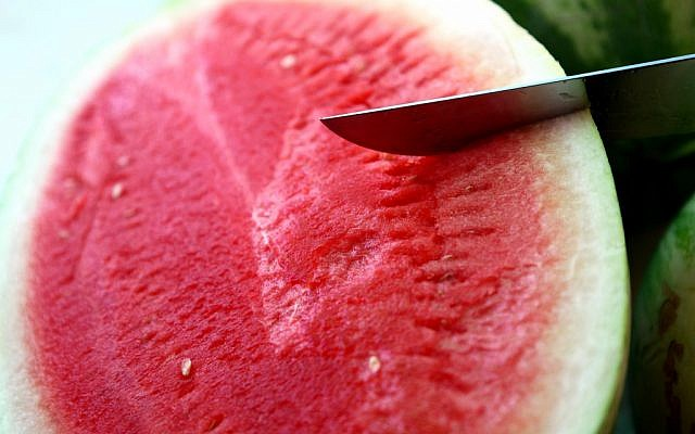 Cold and refreshing watermelon (photo credit: Abir Sultan/Flash 90)