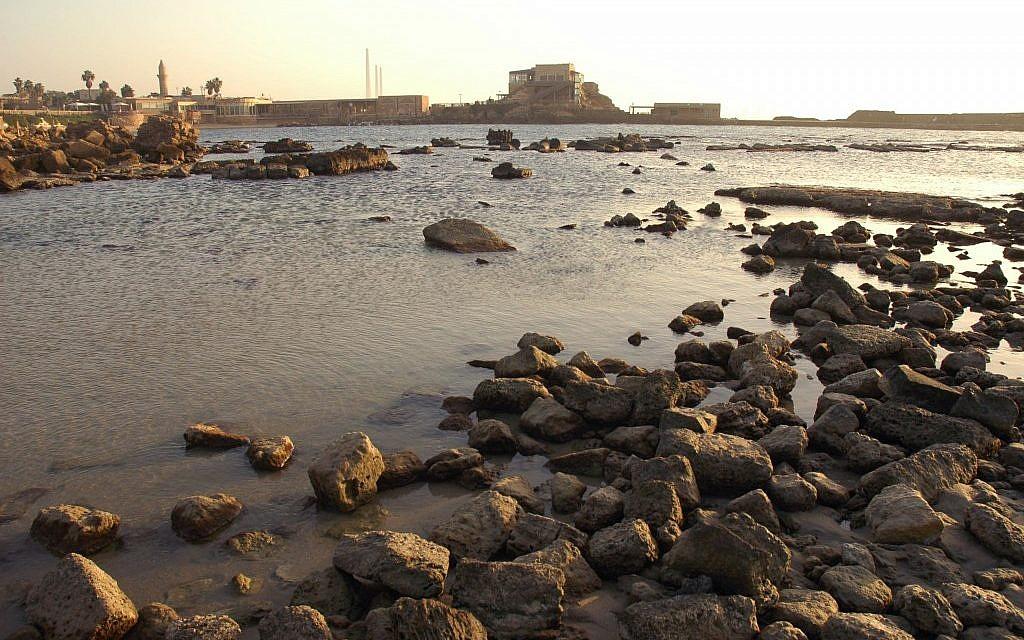 The harbor shoreline of Caesarea (photo credit: Shay Levy/Flash90)