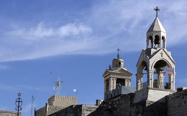 Church of the Nativity in Bethlehem (photo credit: Abir Sultan/Flash90)