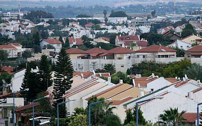 The southern Israeli city of Sderot (Moshe Shai/Flash90/File)